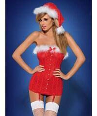 Vánoční kostým Santababe corset - Obsessive Barva: červená, Velikost: L/XL