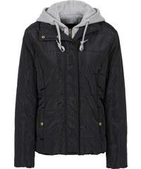 RAINBOW Jacke mit Sweatkapuze langarm in schwarz für Damen von bonprix