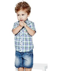 Guess Kids košile Electro Short-Sleeve Plaid