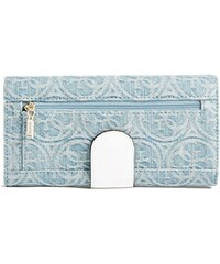 Guess peněženka Juliana File Clutch in Quattro G Denim