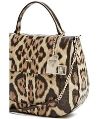 Guess kabelka Milo Leopard-Print Top Handle