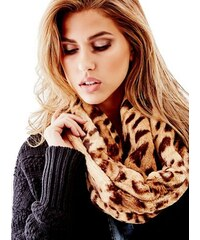 Guess šála Twisted Leopard-Print Infinity