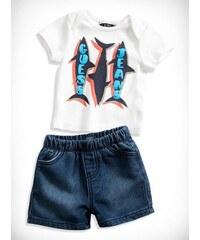 GUESS Kids set Shark Tee and Comfort Denim Shorts