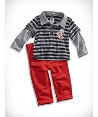 GUESS Kids set Two-fer Striped Polo and Pant