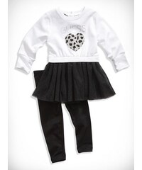 GUESS Kids set Heart Sweatshirt Tutu and Leggings