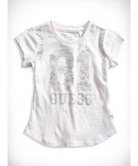 GUESS Kids tričko Rhinestone Logo