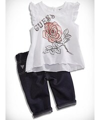 GUESS Kids set Flutter Sleeve Top and Jeggings