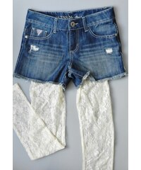 GUESS Kids set Denim Short & Lace Leggings