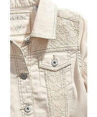 GUESS Kids bunda Unbleached Twill With Lace