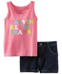 Calvin Klein set Infant Top a Denim Kraťasy