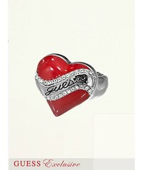 GUESS prsten Resin Heart Stretch