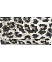 Guess peněženka Delaney Leopard-Print Clutch