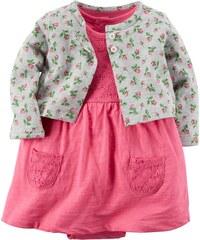 Carter's dvoudílný set šatičky a květinový svetr
