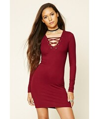 Forever 21 šaty Lace-Up Mini