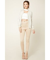 Forever 21 legíny Zip-Front High-Waisted
