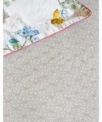 Drap housse imprimé 160x200 cm LACY khaki 100% percale de coton - Collection PIP Studio
