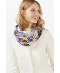 Esprit Lehká kruhová tkaná šála, květinový potisk