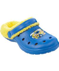 Minions Sandalen mit Teddyfutter blau in Größe 30/31 für Jungen aus 100% Ethylenvinylacetat