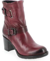 Boots Femme Coco et Abricot en Cuir Rouge