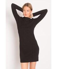 Robe droite en maille manches 3/4 Noir Elasthanne - Femme Taille 38 - Cache Cache