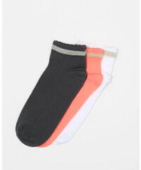 Soquettes sport lurex orange, Femme, Taille 00 -PIMKIE- MODE FEMME