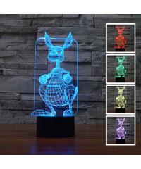 Lunio Color Lampe LED illusion 3D forme kangourou