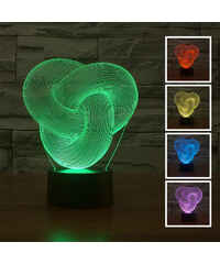 Lunio Color Lampe LED illusion 3D forme noeud