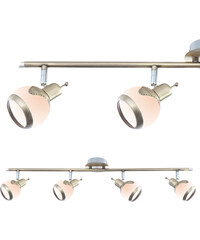 Lesara Plafond avec 4 projecteurs ronds