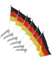 Lesara 6er-Set Flagge Deutschland