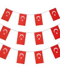 Lesara 3er-Set Flaggen-Girlande Türkei