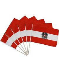 Lesara 6er-Set Flagge Österreich