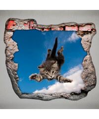 Lesara 3D-Wandsticker für die Zimmerdecke Tiere - Fliegende Katze