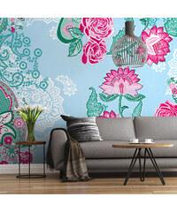 Lesara Fototapete Blumen-Muster