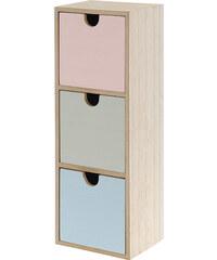 Lesara Mini-Kommode mit 3 Schubladen in Pastell-Farbgebung