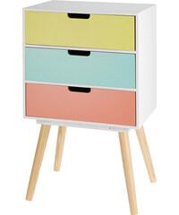 Lesara Kommode mit farbigen Schubladen - 3 Schubladen