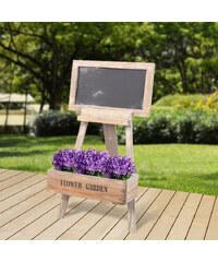 Lesara Blumenstand mit Tafel
