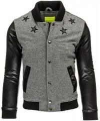 Pánská bunda Stars šedá - šedá