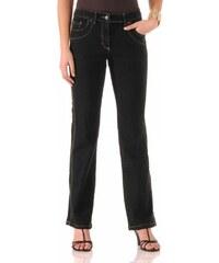 Blancheporte Zeštíhlující džínové kalhoty, vyšší postava černá 36