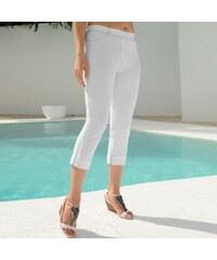 Blancheporte 3/4 kalhoty z džínového úpletu bílá 56