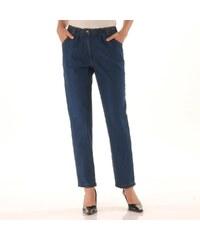 Blancheporte Pohodlné džíny, menší postava modrá 34/36