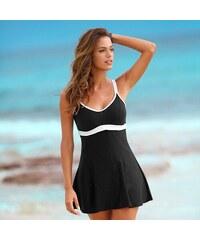 Blancheporte Jednodílné plavky se sukénkou černá/bílá 40
