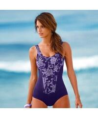 Blancheporte Jednodílné plavky s třpytivým potiskem fialová/lila 40