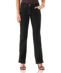 Blancheporte Zeštíhlující džínové kalhoty, nižší postava černá 36
