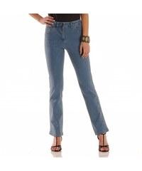 Blancheporte Zeštíhlující džínové kalhoty, nižší postava sepraná modrá 36