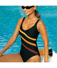 Blancheporte Jednodílné plavky černá/oranžová 38