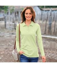Blancheporte Polo tričko s dlouhými rukávy anýzová 38/40
