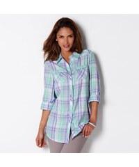 Blancheporte Košile s potiskem, kostkovaná levandulová 36