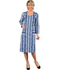 Blancheporte Domácí šaty na zip modrá potisk 38/40
