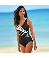 Blancheporte Jednodílné plavky černá/bílá 44