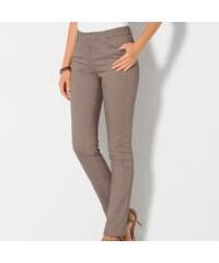 Blancheporte Strečové kalhoty v zeštíhlujícím střihu hnědošedá 36